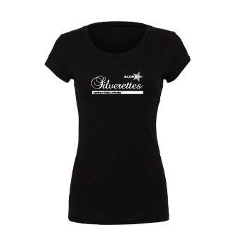 Silverettes Alumni Ladies Slim Fit Black T-Shirt