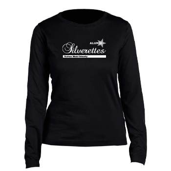 Silverettes Alumni Ladies Long-sleeved Black T-Shirt